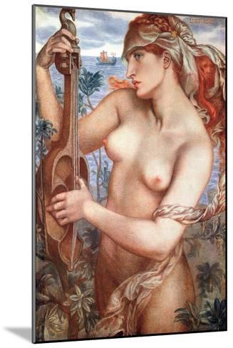 The Siren Mermaid Ligeia--Mounted Giclee Print