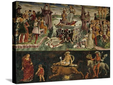 The Month of April: Taurus Astrological Symbols and the Triumph of Venus--Stretched Canvas Print