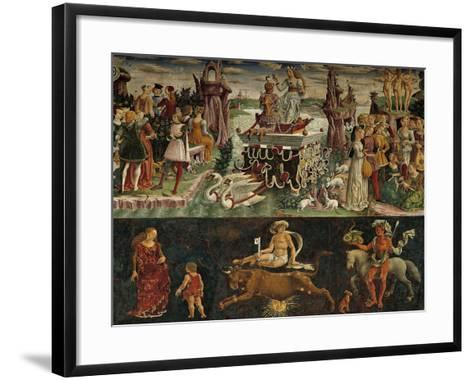 The Month of April: Taurus Astrological Symbols and the Triumph of Venus--Framed Art Print