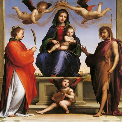Madonna Enthroned with Saints-Giovanni de' Medici-Stretched Canvas Print