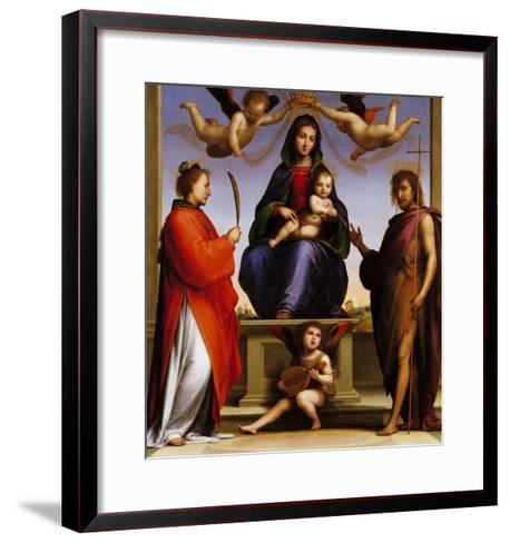 Madonna Enthroned with Saints-Giovanni de' Medici-Framed Art Print