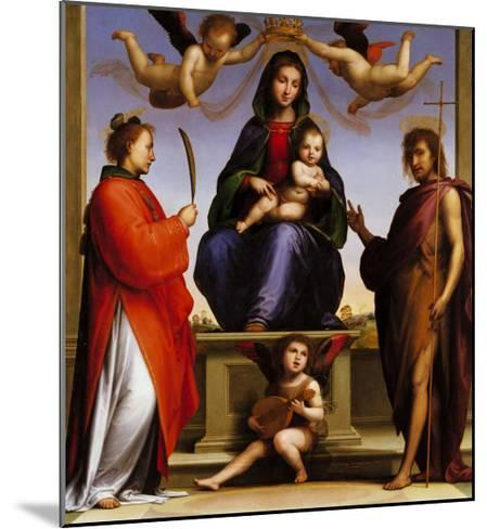 Madonna Enthroned with Saints-Giovanni de' Medici-Mounted Giclee Print