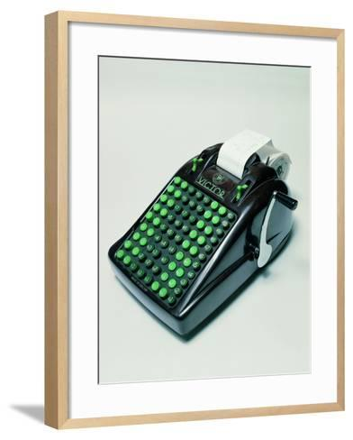 """Victor"" Phenolic Resin Calculator--Framed Art Print"