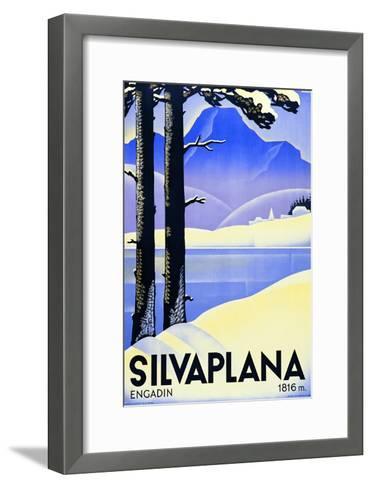 Advertising Poster Silvaplana-Ludwig Hohlwein-Framed Art Print