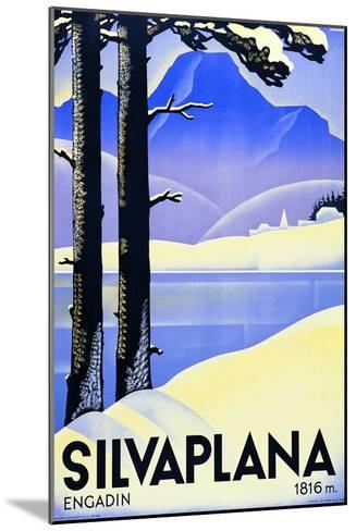 Advertising Poster Silvaplana-Ludwig Hohlwein-Mounted Giclee Print