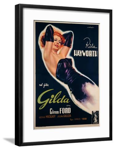 """Film Poster for """"Gilda""""--Framed Art Print"""