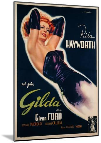"""Film Poster for """"Gilda""""--Mounted Giclee Print"""