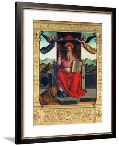 St Jerome at Pulpit--Framed Art Print