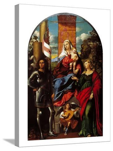 Madonna Between St George and St Lucy--Stretched Canvas Print