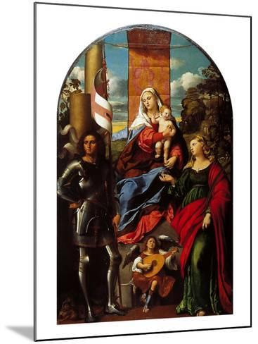 Madonna Between St George and St Lucy--Mounted Giclee Print