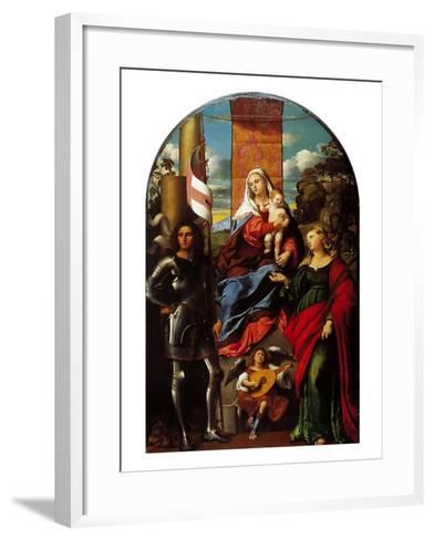Madonna Between St George and St Lucy--Framed Art Print