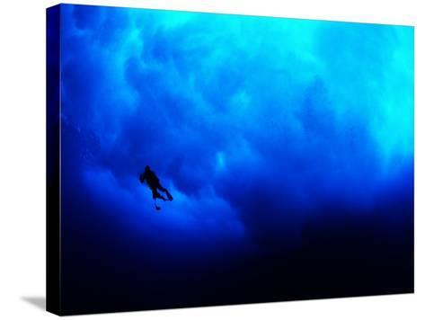 Undertow Along the Submerged Underwater Cliffs at Coco Island-Andrea Ferrari-Stretched Canvas Print