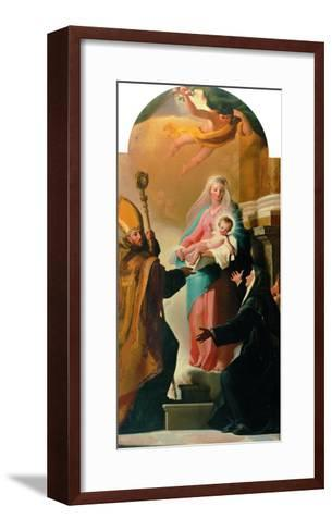 Madonna of the Belt, St Augustine and St Monica-Jacob-Philippe Hackert-Framed Art Print