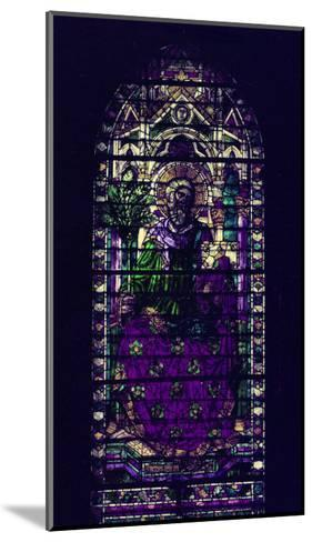 Stained-Glass Window with Figure of Saint Martyr Enthroned-Parmigianino-Mounted Giclee Print