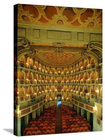 """Bibiena Theater known as the """"Scientifico""""--Stretched Canvas Print"""