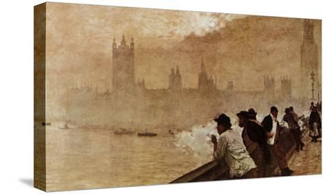 The Bridge at Westminster--Stretched Canvas Print