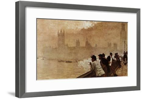 The Bridge at Westminster--Framed Art Print