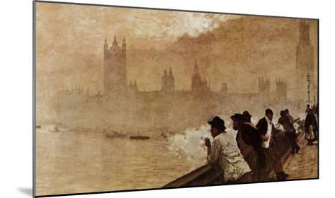 The Bridge at Westminster--Mounted Giclee Print