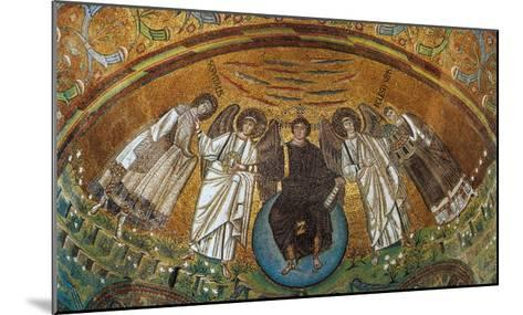 Apse Conch - Jesus on a Globe with Two Angels, St Vitale and the Bishop Ecclesio--Mounted Giclee Print