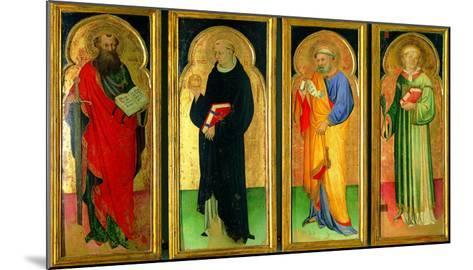 Polyptych with St Paul, St Nicholas of Tolentino, St Peter and St Lawrence--Mounted Giclee Print