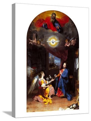 The Annunciation-Leopoldo Metlicovitz-Stretched Canvas Print
