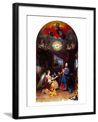 The Annunciation-Leopoldo Metlicovitz-Framed Art Print