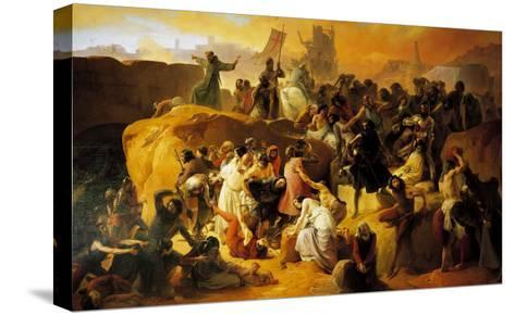 The Thirst of the Crusaders at the Foot of Jerusalem--Stretched Canvas Print