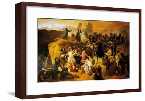 The Thirst of the Crusaders at the Foot of Jerusalem--Framed Art Print
