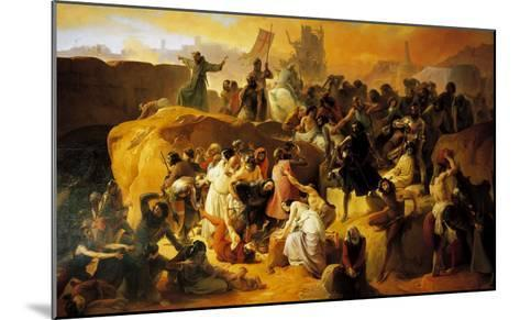 The Thirst of the Crusaders at the Foot of Jerusalem--Mounted Giclee Print