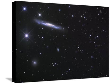 Ngc 3079 and the Lensed Quasar-Robert Gendler-Stretched Canvas Print