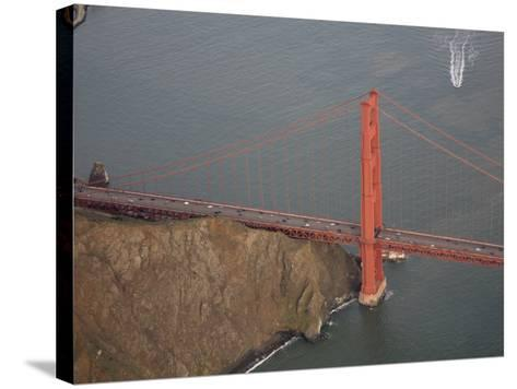North Buttress of Golden Gate Bridge, California-Marli Miller-Stretched Canvas Print