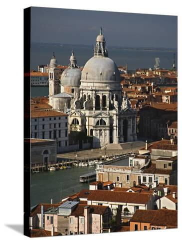 Grand Canal and Santa Maria Della Salute Viewed from the Campanile, Piazza San Marco, Venice, Italy-Adam Jones-Stretched Canvas Print