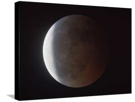 Partial Phase of a Total Lunar Eclipse-Guillermo Gonzalez-Stretched Canvas Print