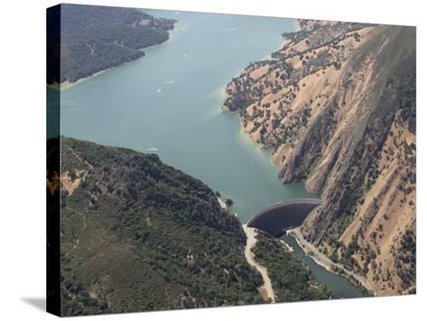 Monticello Dam at the Mouth of Lake Berryessa, California, USA-Marli Miller-Stretched Canvas Print
