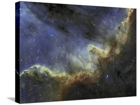 Ngc 7000, the North American Nebula or Cygnus Wall, Emission Line Mapping-Matthew Russell-Stretched Canvas Print