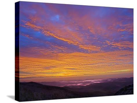 Colorful Clouds at Sunrise over the Southern Appalachian Mountains, North Carolina, USA-Adam Jones-Stretched Canvas Print