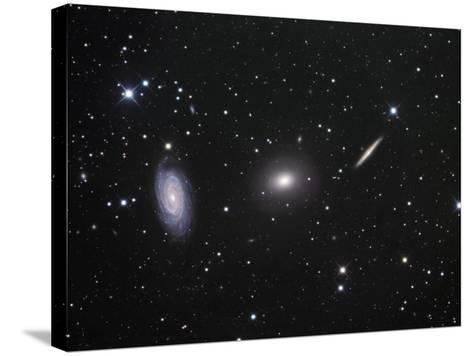 Ngc 5985, 5982, and 5981 Galaxies in Draco-Robert Gendler-Stretched Canvas Print