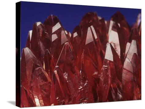 Rhodochrosite Crystals (Mnco3), an Ore of Manganese-Mark Schneider-Stretched Canvas Print