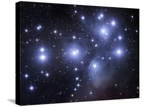 Messier 45, the Pleiades or Seven Sisters-Robert Gendler-Stretched Canvas Print