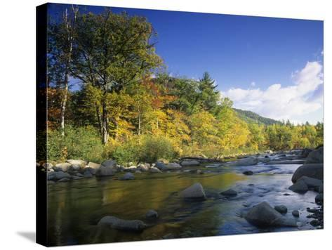 Swift River in the Autumn, White Mountains National Forest, New Hampshire, USA-Adam Jones-Stretched Canvas Print