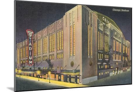 Chicago Stadium at Night, Chicago, Illinois--Mounted Art Print