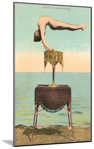 Circus Contortionist at Beach--Mounted Art Print