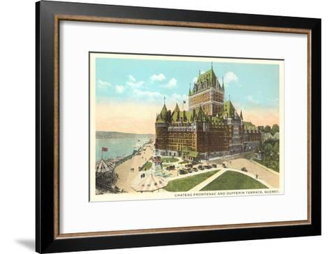 Chateau Frontenac, Dufferin Terrace, Quebec--Framed Art Print