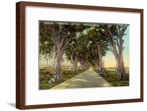 Central Highway, Havana--Framed Art Print