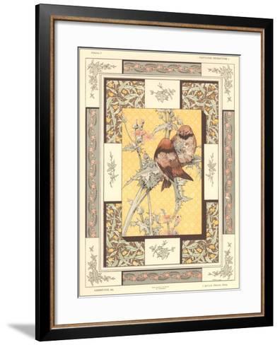 Birds on Thistle Plant--Framed Art Print
