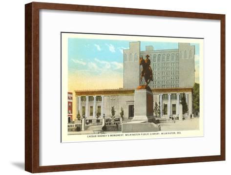 Caesar Rodney Monument, Wilmington--Framed Art Print