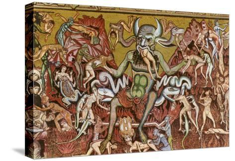 Devil with Goyesque Scene from Hell--Stretched Canvas Print