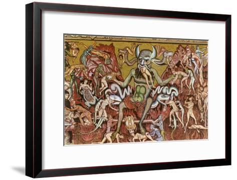 Devil with Goyesque Scene from Hell--Framed Art Print