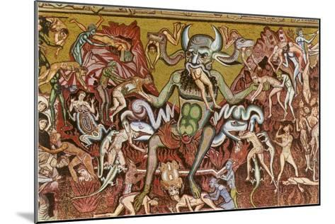 Devil with Goyesque Scene from Hell--Mounted Art Print