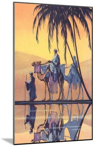 Arabs on Camels Along the Nile--Mounted Art Print